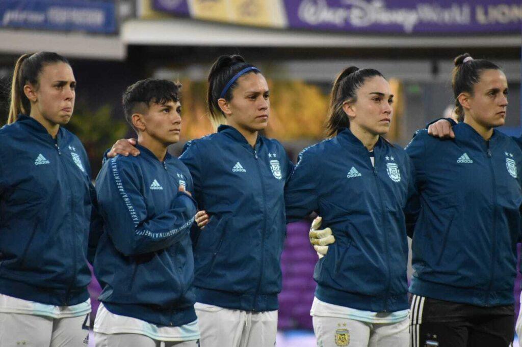 Plantel de la Selección Argentina de Fútbol Femenino en la previa contra Canadá - Copa SheBelieves
