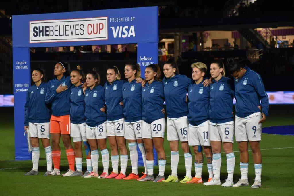 Copa SheBelieves: Argentina 0 - Estados Unidos 6.