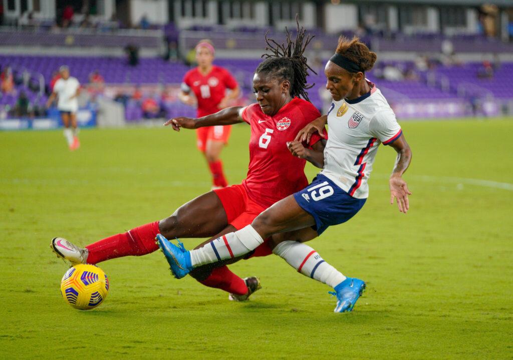 Estados Unidos (1) - Canadá (0) - Primer juego de la Copa SheBelieves.