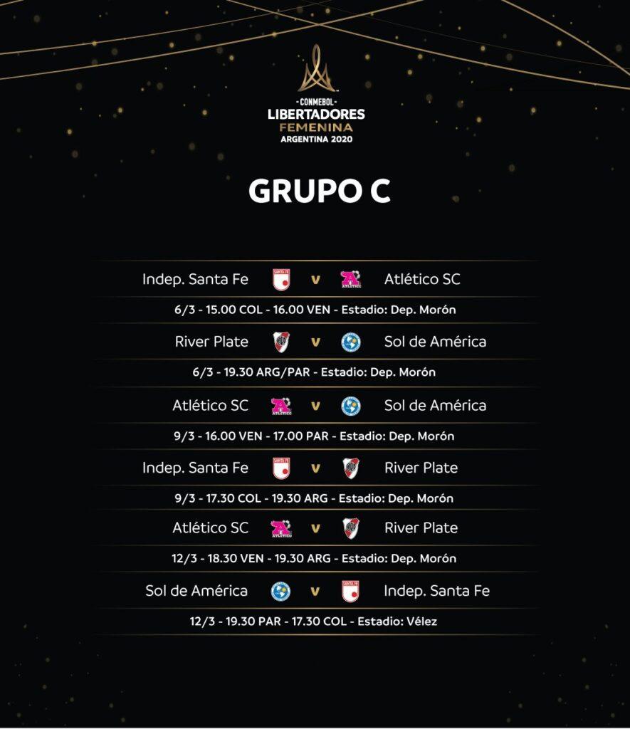 Copa Libertadores Femenina 2020: Fixture Grupo C