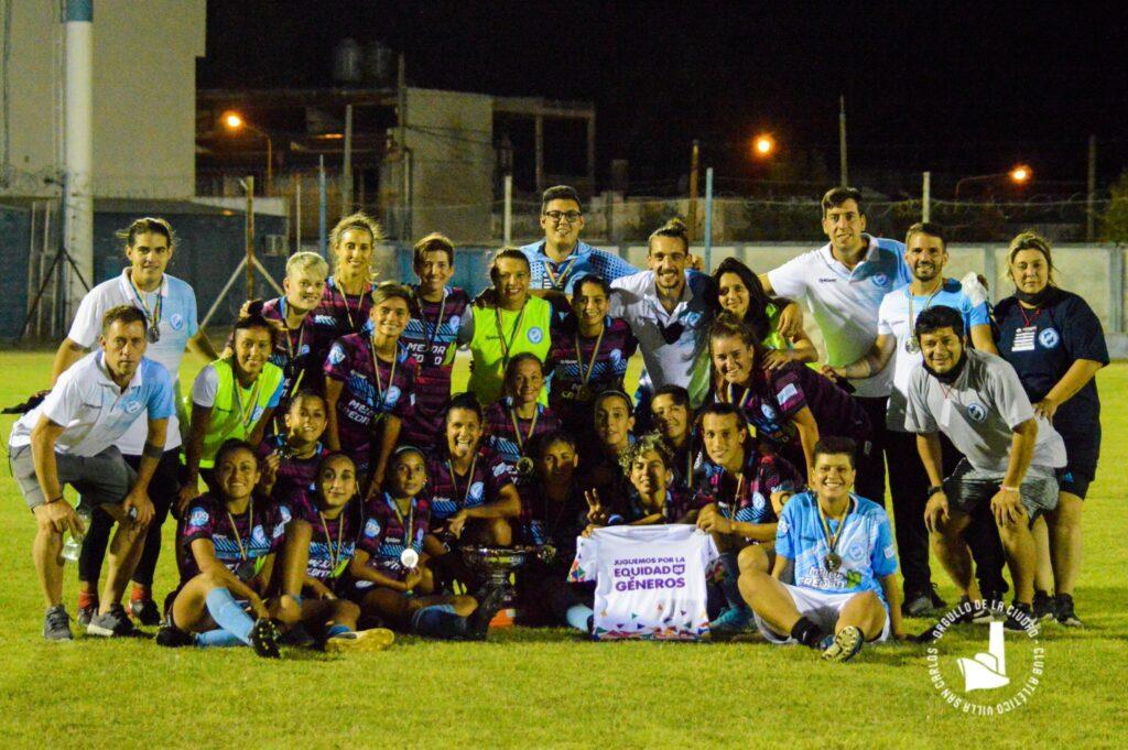 """Villa San Carlos campeón de la Copa """"Juguemos por la Equidad de Género""""."""