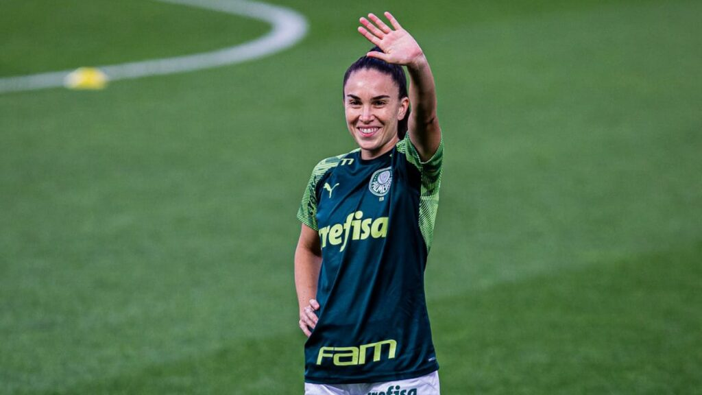 Agustina Barroso convirtió uno de los cuatro tantos en el triunfo sobre el Cruzeiro