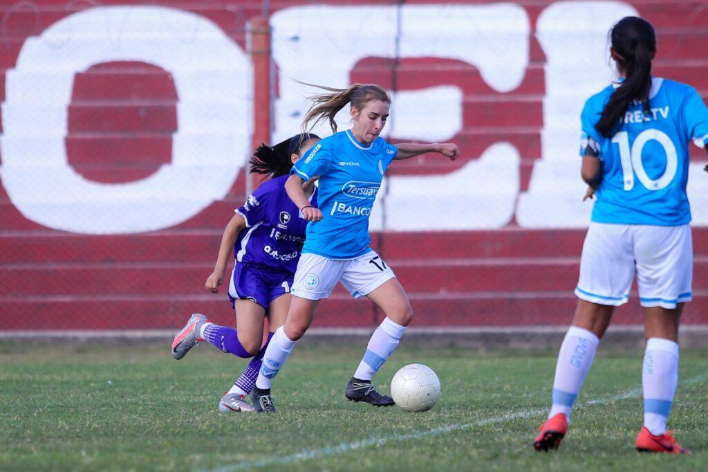 Mariana Alisio marcó su primer gol con la camiseta de Belgrano.