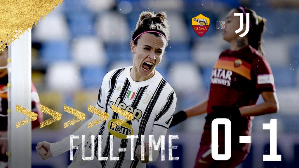 La Juventusde Turín con Dalila Ippolito en el banco de suplentes (no ingresó), se quedó con el triunfo ante al Associazione Sportiva Roma por 1-0.