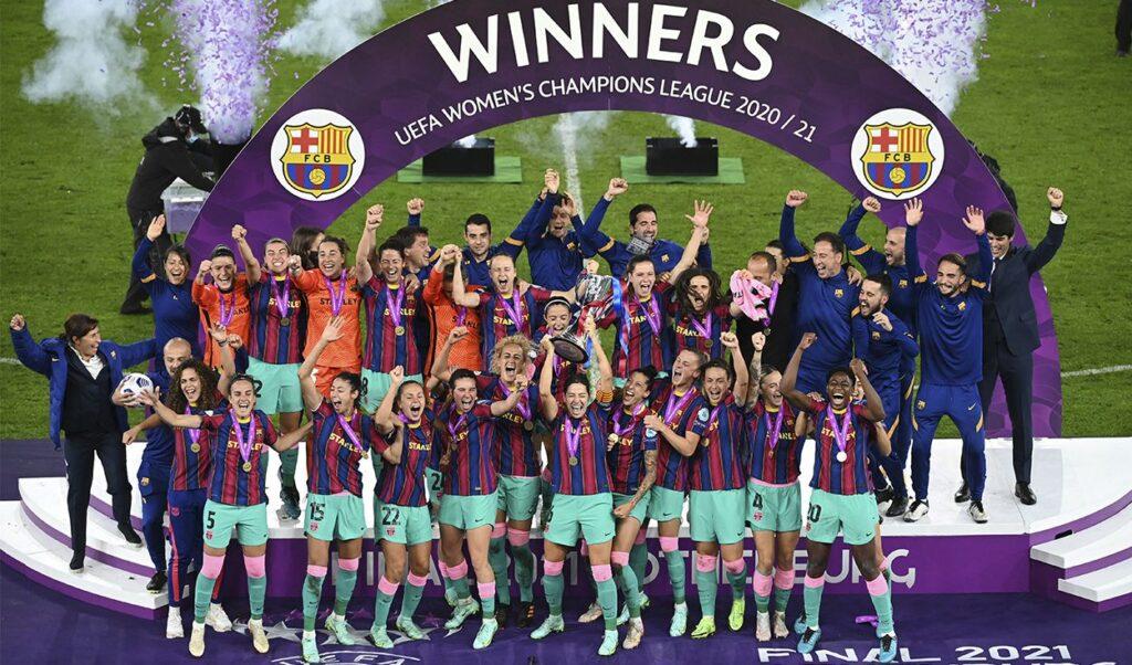 Venciendo al Chelsea por 4-0, el Barcelona salió campeón de la Champions League Femenina 2020/21.