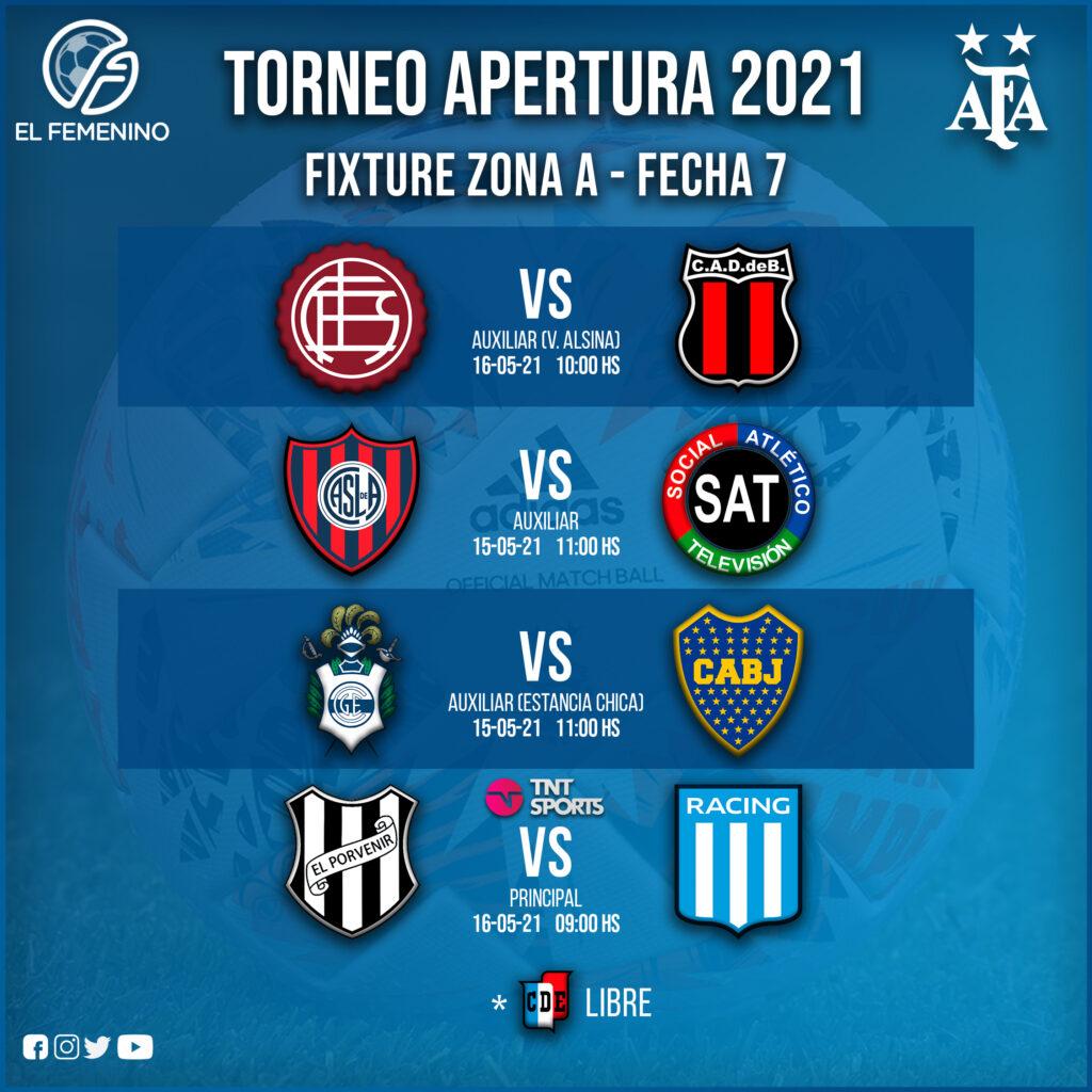 Torneo Apertura Femenino 2021 - Fecha 7 - Zona A