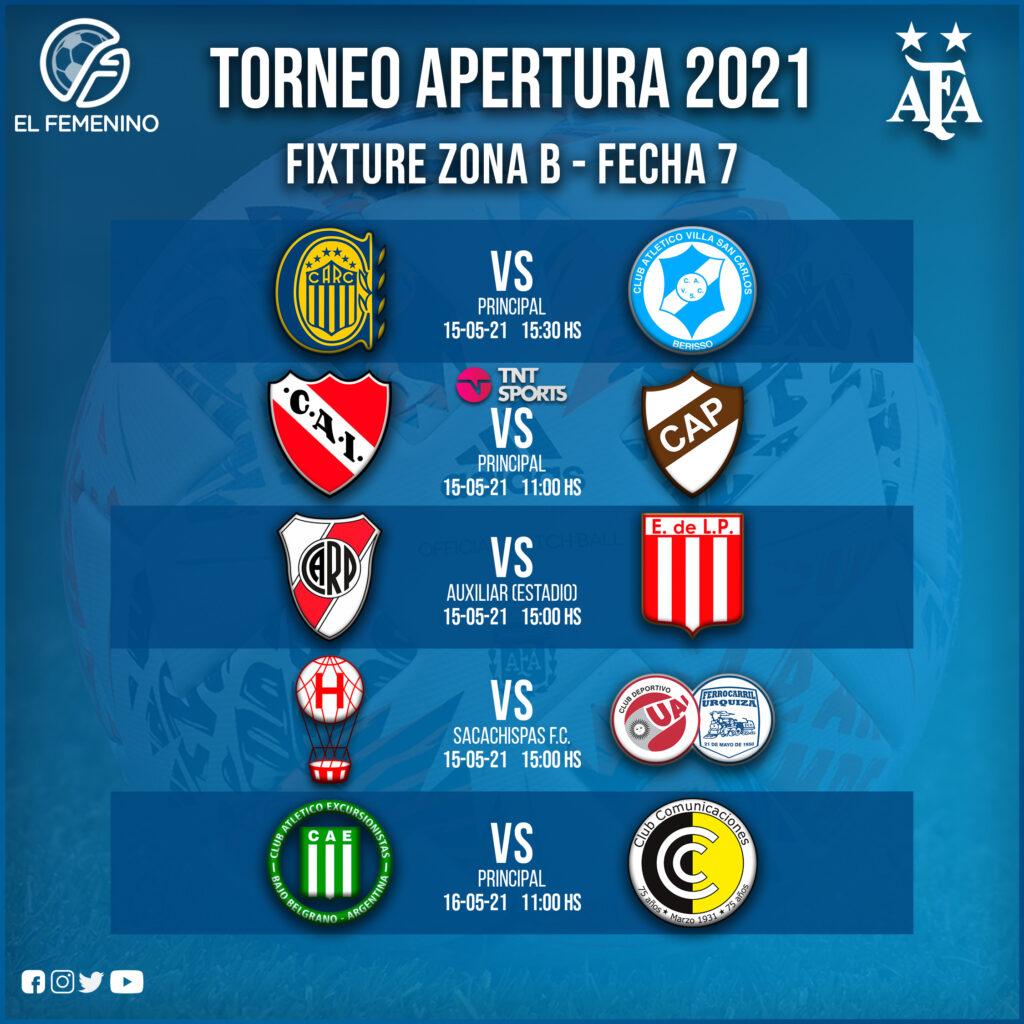 Torneo Apertura Femenino 2021 - Fecha 7 - Zona B