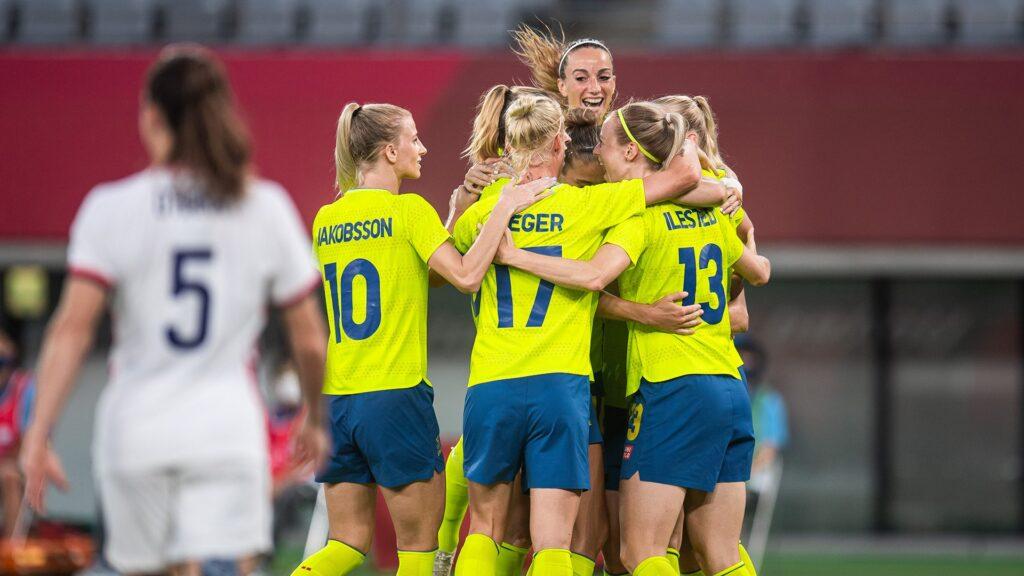 Suecia venció 3 a 0 a Estados Unidos en los Juegos Olímpicos de Tokio 2020