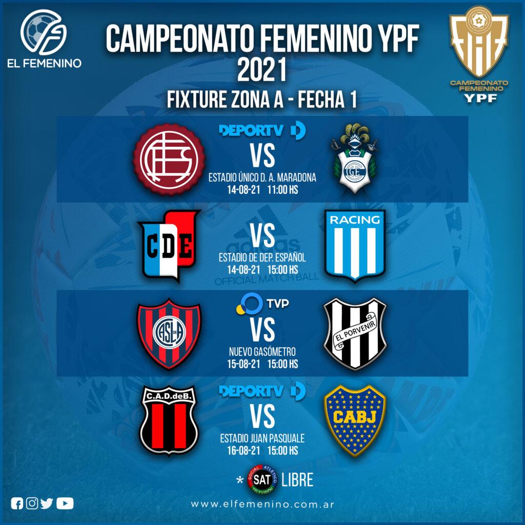 Campeonato Femenino YPF - Fecha 1 - Zona A
